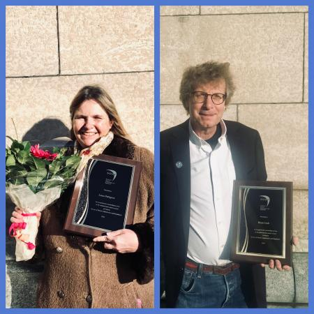 2020 SOAR Medal Recipients Laura Pettigrew and Brian Cook