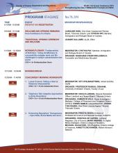 Program at a glance 2019, page 1